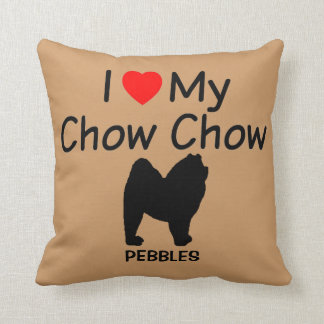 I Love My Chow Chow Dog Throw Pillow