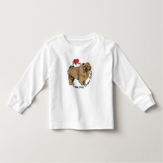 I Love My Chow Chow Dog Toddler T-shirt