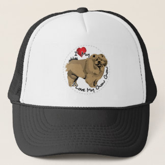 I Love My Chow Chow Dog Trucker Hat