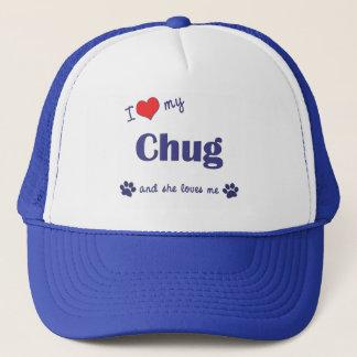 I Love My Chug (Female Dog) Trucker Hat