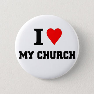 I love my Church 2 Inch Round Button