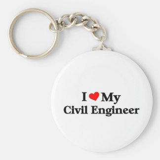 I love my Civil Engineer Basic Round Button Keychain