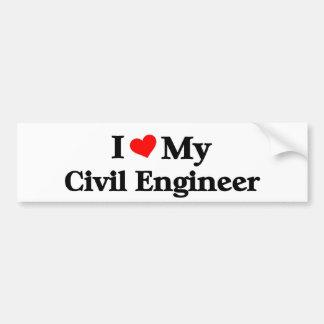 I love my Civil Engineer Bumper Sticker