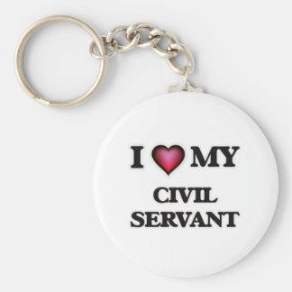 I love my Civil Servant Basic Round Button Keychain