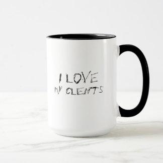 I love my clients - urban, edgy office work mug