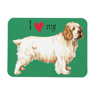 I Love my Clumber Spaniel Magnet