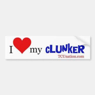 I Love My Clunker - 1 Bumper Sticker