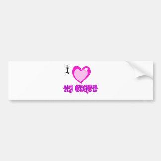 I Love MY COACH Bumper Sticker