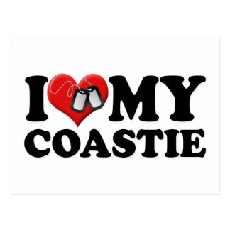 I Love My Coastie Postcard