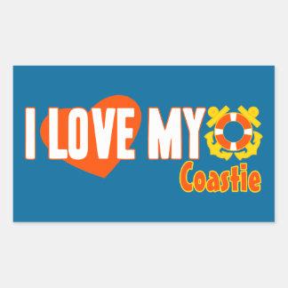 I Love My Coastie! Sticker