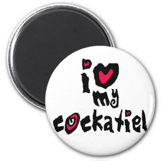 I Love My Cockatiel Magnet