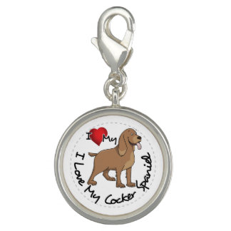 I Love My Cocker Spaniel Dog Charm