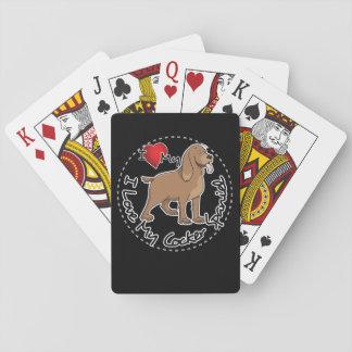 I Love My Cocker Spaniel Dog Playing Cards