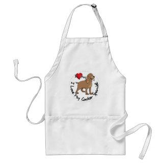 I Love My Cocker Spaniel Dog Standard Apron