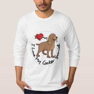 I Love My Cocker Spaniel Dog T-Shirt