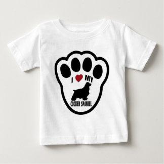 I love my Cocker Spaniel Paw Print Baby T-Shirt