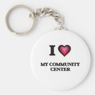 I love My Community Center Keychain