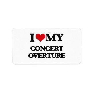 I Love My CONCERT OVERTURE Labels