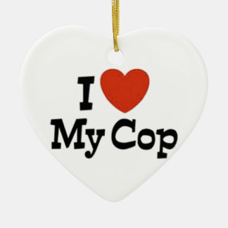 I love my cop ceramic ornament