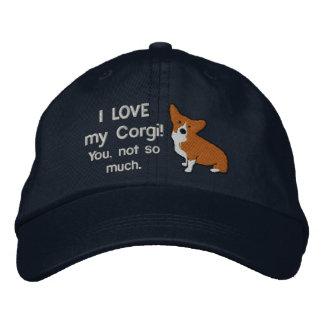 I Love My Corgi Dark Embroidered Hat
