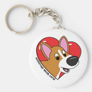 I Love my Corgi Keychain (Cartoon)