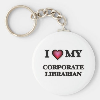I love my Corporate Librarian Basic Round Button Keychain