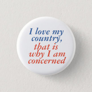 I love my country 1 inch round button