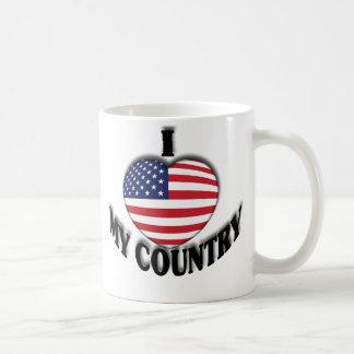 I Love My Country Basic White Mug