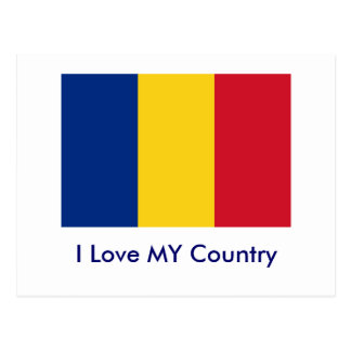 I Love MY Country Romania Flag The MUSEUM Zazzle Postcards
