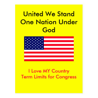 I Love MY Country Term Limits for Congress Postcard