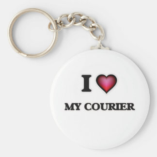 I love My Courier Keychain