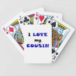 I Love my Cousin Bicycle Playing Cards
