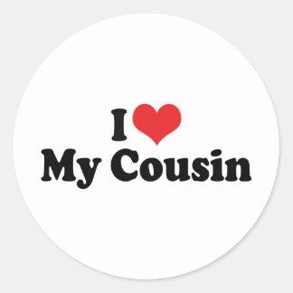 I Love My Cousin Classic Round Sticker