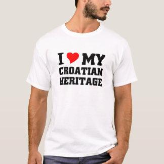 I love my Croation Heritage T-Shirt