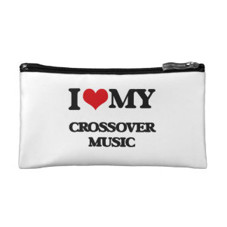 I Love My CROSSOVER MUSIC Makeup Bags