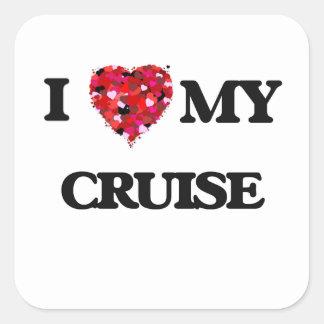 I Love MY Cruise Square Sticker