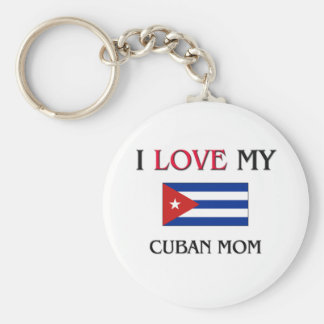 I Love My Cuban Mom Keychain