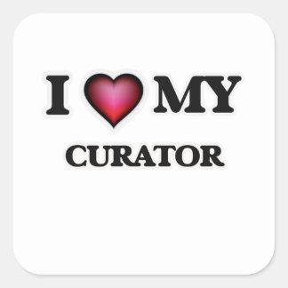 I love my Curator Square Sticker