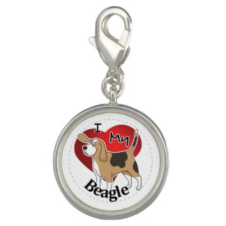I Love My Cute Funny Happy & Adorable Beagle Dog Charm