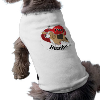 I Love My Cute Funny Happy & Adorable Beagle Dog Shirt
