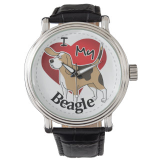 I Love My Cute Funny Happy & Adorable Beagle Dog Watch