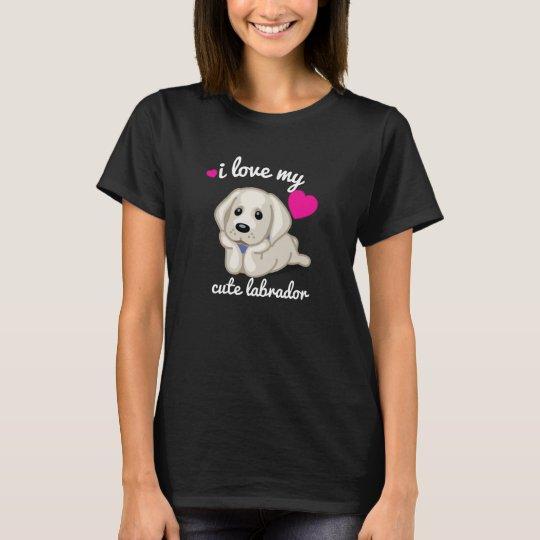 I love my Cute Labrador Black Woman t shirt