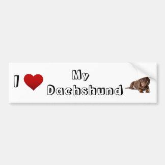 I love my Dachshund (2) Bumper Sticker