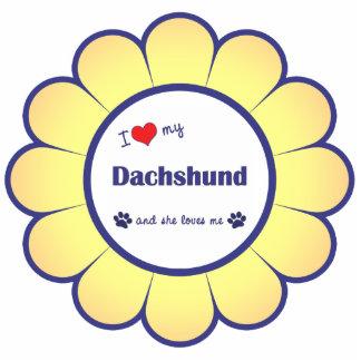I Love My Dachshund (Female Dog) Photo Sculpture Ornament