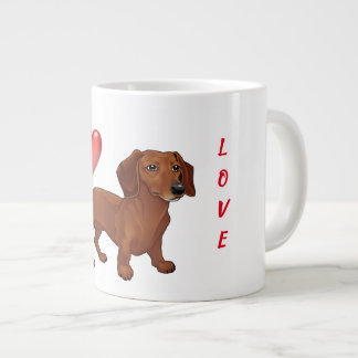I love my Dachshund Large Coffee Mug