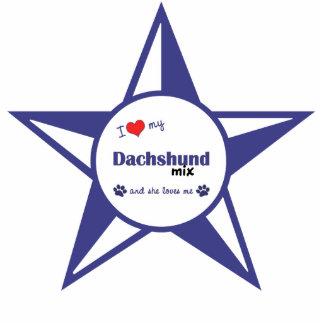 I Love My Dachshund Mix (Female Dog) Photo Sculpture Ornament