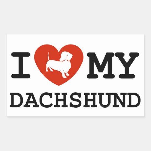 i love my dachshund sticker