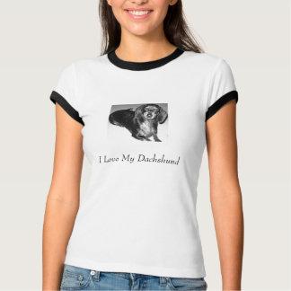 I Love My Dachshund T Shirt