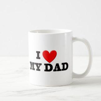 I Love My Dad Basic White Mug