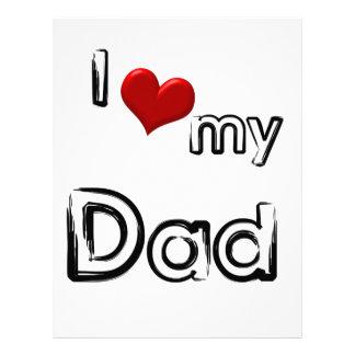 i love my dad customized letterhead